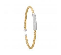 Bracelet rigide femme argent 925/1000 bicolore Charles Garnier Paris 1901 LIANES AGF170041B