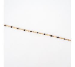 Bracelet Houston noir en acier - Anartxy APU780 N