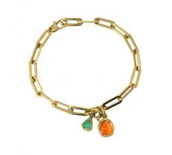 Bracelet oeil de chat en acier - Anartxy BPU058 NA