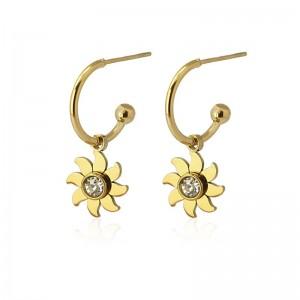 Boucles d'oreilles mini créoles en acier - Anartxy HOOP01 A D