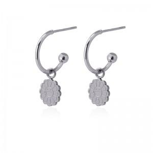 Boucles d'oreilles mini créoles en acier - Anartxy HOOP01 T PL