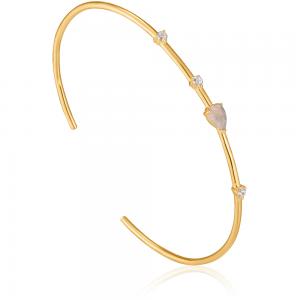 Bracelet rigide femme argent 925/1000 doré Ania Haie Midnight fever B026-03G