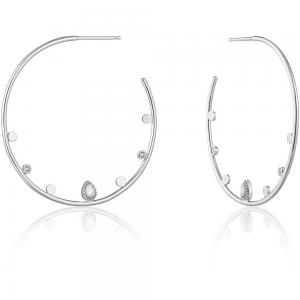 Boucles d'oreilles créoles femme argent 925/1000 Ania Haie Bohemian Dream E016-02H