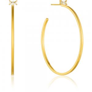 Boucles d'oreilles créoles femme argent 925/1000 doré Ania Haie Glow getter E018-11G