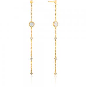 Boucles d'oreilles femme argent 925/1000 doré Ania Haie Hidden gem E022-02G