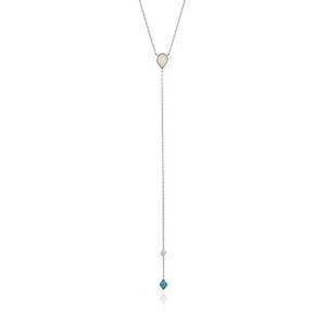 Collier cravate femme argent 925/1000 doré Ania Haie Mineral Glow N014-01H