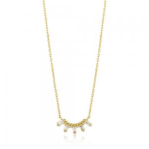 Collier femme argent 925/1000 doré Ania Haie Mineral Glow N018-03G