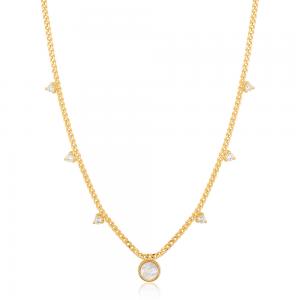 Collier femme argent 925/1000 doré Ania Haie Hidden Gem N022-03G