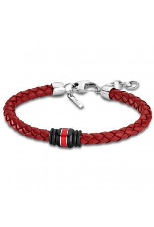 Bracelet acier et cuir Lotus Style