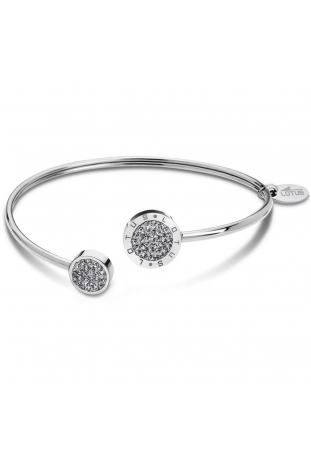 Bracelet acier et cristaux Lotus Style