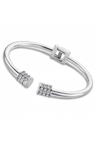 Bracelet en acier PVD et cristaux Lotus Style