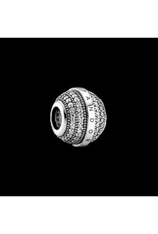 Charm Pandora logo pavé en argent 925/1000 799489C01