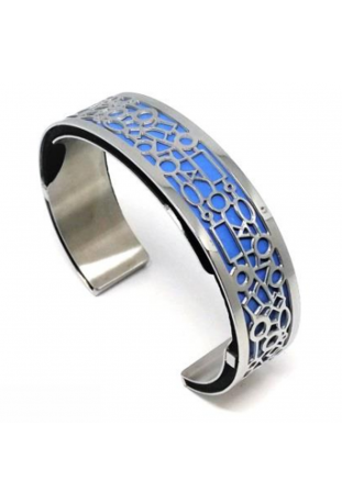 Bracelet acier manchette 15 mm ODA DREAMS CABANES