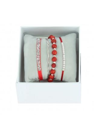 Strass Box Jonc Fil Les interchangeables Rouge A54401
