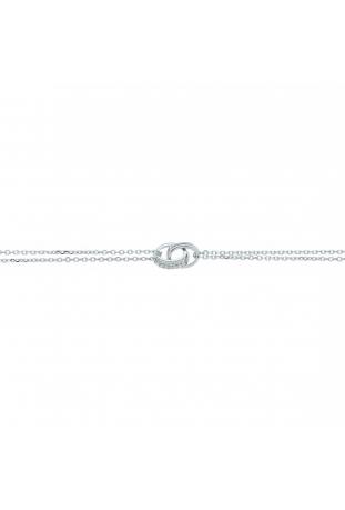 Bracelet argent 925/1000, 2 anneaux et oxydes de zirconium by Stauffer