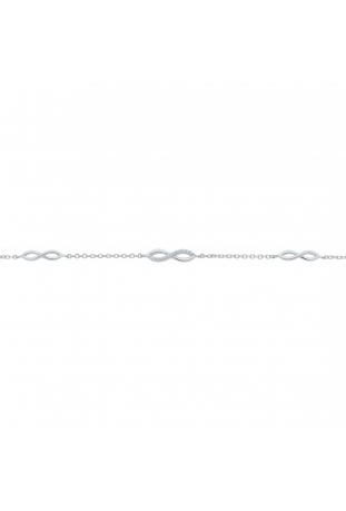 Bracelet argent 925/1000, 3 motifs infinis et oxydes de zirconium by Stauffer