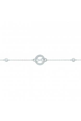 Bracelet argent 925/1000, motif rond et infini et oxydes de zirconium by Stauffer