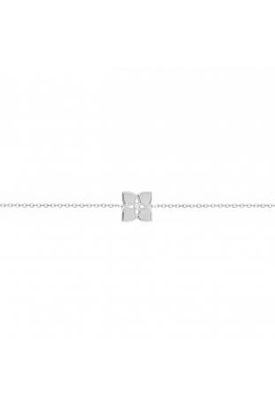 Bracelet argent 925/1000, motif fleur et oxydes de zirconium by Stauffer