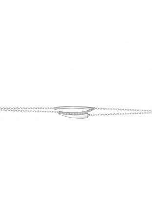 Bracelet argent 925/1000, motif géométrique et oxydes de zirconium by Stauffer
