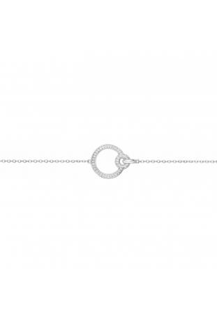 Bracelet argent 925/1000, motif rond et oxydes de zirconium by Stauffer