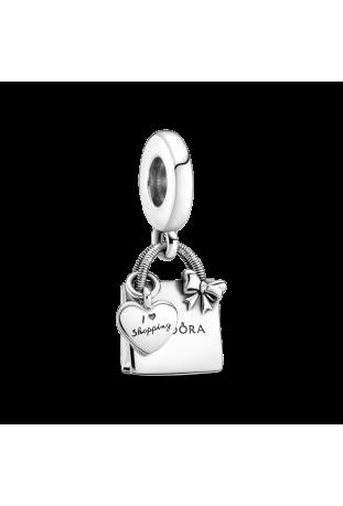 Charm pendentif pandora shopping bag en argent 925/1000 799536C00