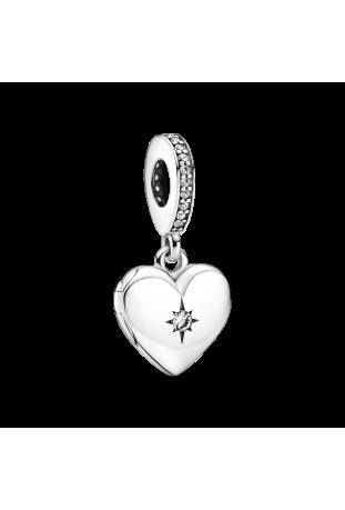 Charm Pandora pendentif médaillon coeur ouvrable en argent 925/1000 799537C01