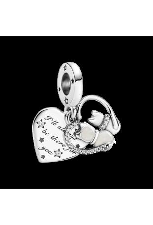 Charm pendentif pandora chats et coeur en argent 925/1000 799546C01