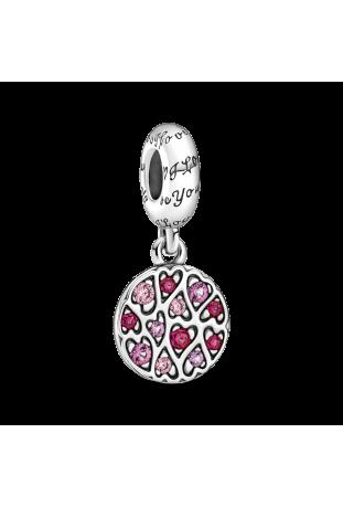 Charm pendentif pandora motifs coeurs pétillants en argent 925/1000 799558C01