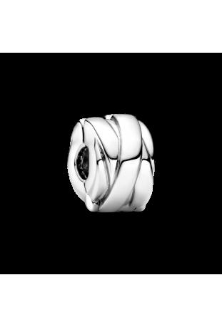 Charm clip Pandora rubans poli en argent 925/1000 799502C00