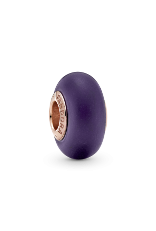 Charm Pandora rose verre de Murano Violet mat 789547C00
