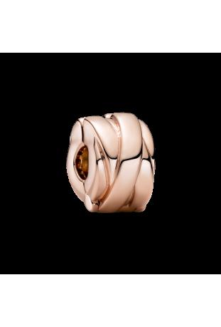 Charm clip Pandora rose de rubans poli 789502C00