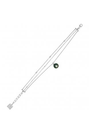 Bracelet Epure argent, perle de Tahiti et diamants IZA B FEZ19B001HP
