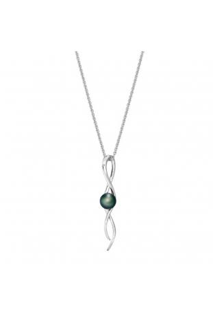 Collier pendentif Canopée argent 925/1000 et perle de Tahiti et diamant IZA B FEZ20N001HP