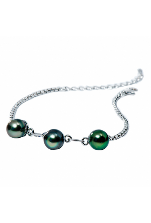 Bracelet Epure argent, perles de Tahiti IZA B NI-024-BRA