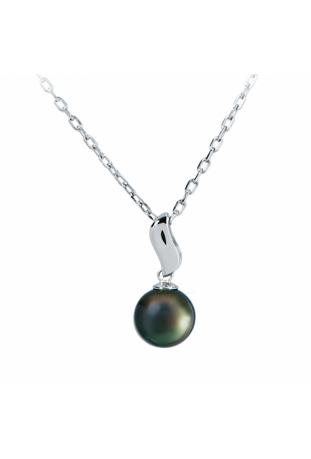 Collier pendentif Lagune argent 925/1000, perle de Tahiti IZA B NI-045-PEN