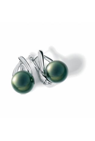 Boucles d'oreilles Canopée argent 925/1000 et perles de Tahiti IZA B SV-007-BO