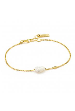 Bracelet femme argent 925/1000 doré Ania Haie Pearl Of Wisdom B019-01G