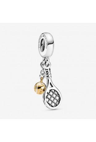 Charm Pendant Pandora Raquette & Balle de Tennis en Argent 925/1000 et doré à l'or fin 585/1000 769026C01