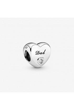 Charm Pandora Cœur Papa en argent 925/1000 796458CZ