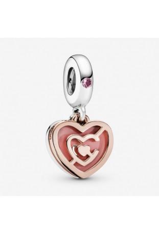 Charm Pandora Pendentif Labyrinthe Coeur Rose en argent 925/1000 787801NBP