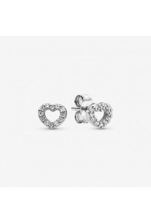 Boucles d'oreilles Pandora Cœur Ouvert en argent 925/1000 290528CZ