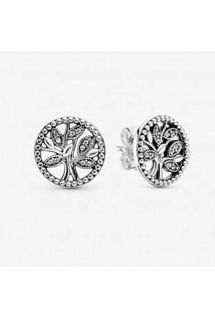 Boucles d'oreilles Pandora Arbre De Vie Scintillant en argent 925/1000 297843CZ
