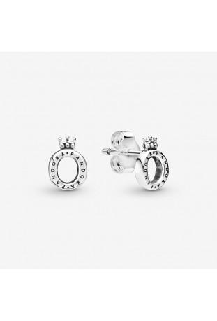 Boucles d'oreilles Pandora O Couronné Poli en argent 925/1000 298295