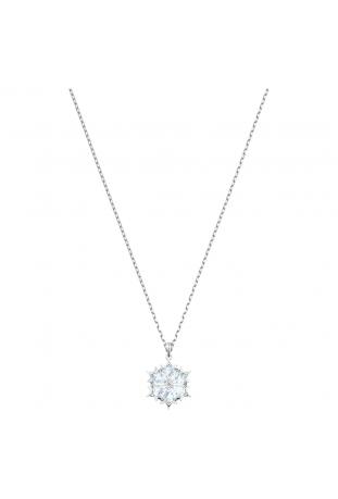 Collier Pendentif Magic Flocon de neige, Blanc, Métal rhodié SWAROVSKI 5428432