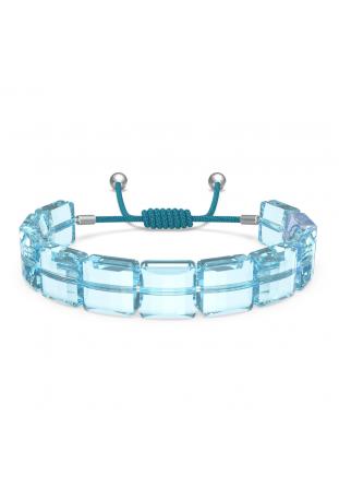 Bracelet Swarovski, Letra Œil porte-bonheur, Bleu, Métal rhodié 5614971