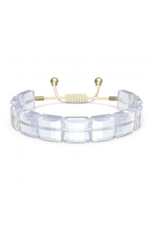 Bracelet Swarovski Letra Étoile, Blanc, Métal doré 5615862