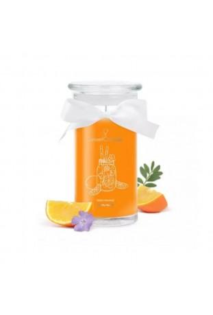 Bougie Fresh Orange Limonade, (Boucles d'oreilles), Jewel Candle 201557FR-B