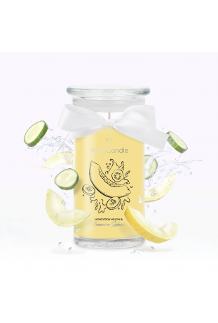 Bougie Honeydew Melon & Cucumber Splash, (Boucles d'oreilles), Jewel Candle 201559FR-B