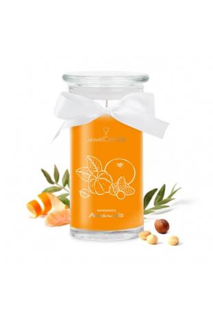 Bougie Mandarin & Macadamia Nuts, (Boucles d'oreilles), Jewel Candle 201664EU-B