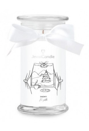 Bougie Snowy nights, (Boucles d'oreilles), Jewel Candle 202354FR-B